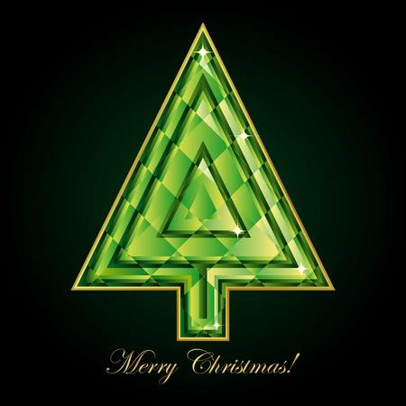 Emerald Christmas tree.  photo