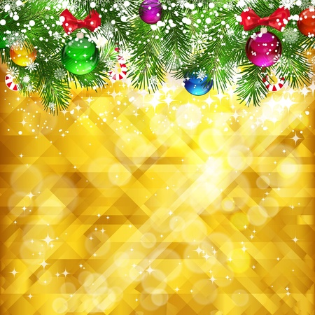 Stars golden background and place for your text Stock Photo - 11261820