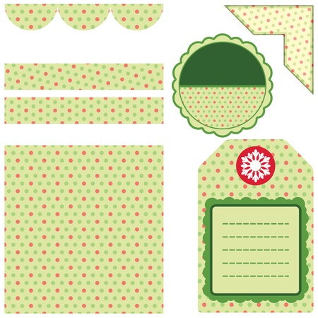 Set of Christmas backgrounds and design elements Stock Photo - 11310729