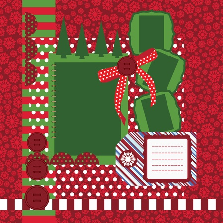 Christmas page - set of design elements photo