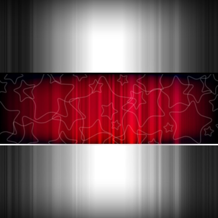 Abstract background, metallic and red, vector. Vector