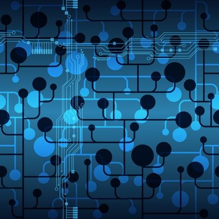 circuitos electricos: Resumen de comunicaci�n virtual chip de vectores de fondo. Patr�n sin fisuras.