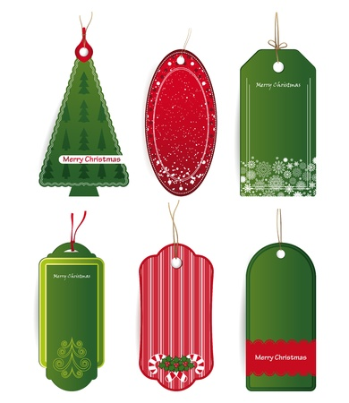 Christmas price tags Vector. Stock Photo - 11656990
