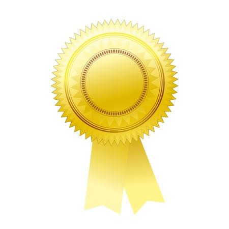 signatory: Gold seal - Illustration for your design.
