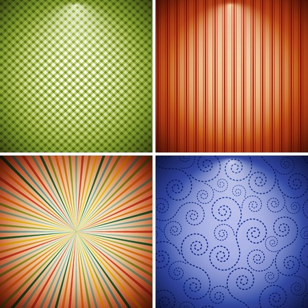 Abstract retro background collection.