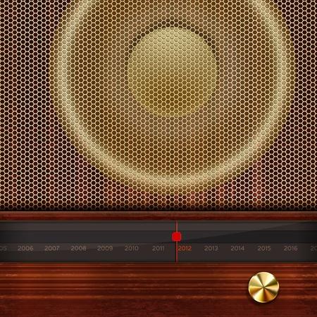 equipo de sonido: Vector de Año Nuevo