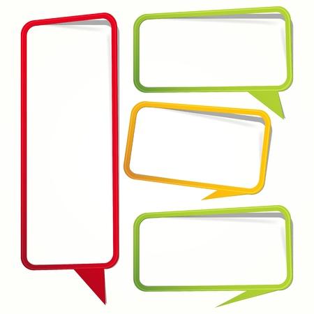 Labels in de vorm van een leeg kader voor uw tekst. Stock Illustratie