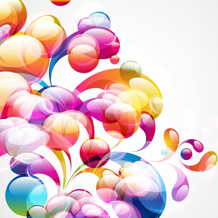 Abstract colorful arc-drop background. Vector. Stock Vector - 12206995