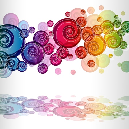 eps colorful curls background Vector