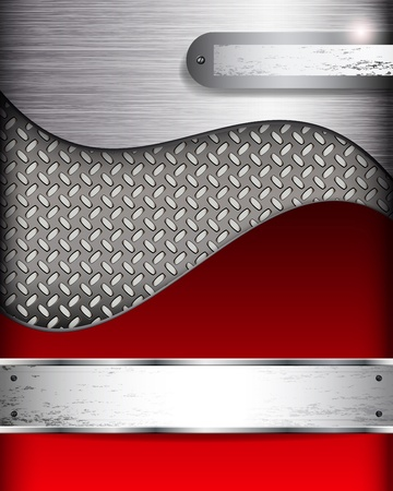 Abstract background with metall banners, vector.  Vector