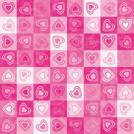 Heart cute background, vector. Vector