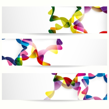 Abstract banner with forms of empty frames for your web design. Stock Vector - 12839265