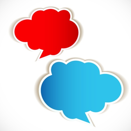 Paper speech bubble for your text. Vector