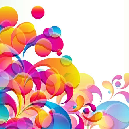 Abstract colorful arc-drop background. Vector. Stock Vector - 12943277