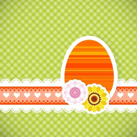 Easter egg from paper Easter card vector background eps 10  Vector