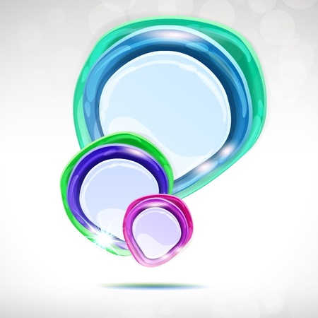lustrous: Speech bubble - abstract lustrous vector background.