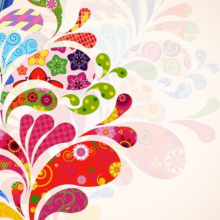 Abstract ornamental floral background. Vector