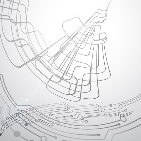Resumen de vectores de tecno línea de fondo