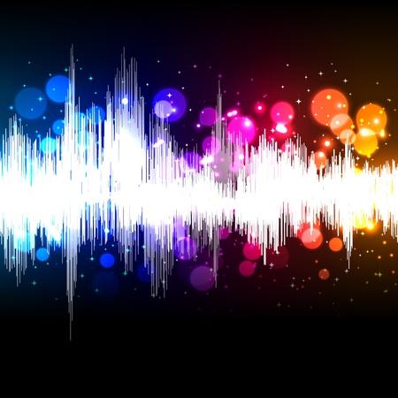 and sound: la m�sica de forma de onda de vectores de fondo