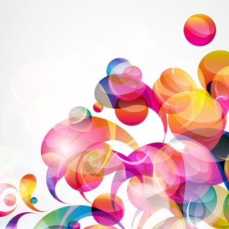 Abstract colorful arc-drop background. Vector. Stock Vector - 13056648