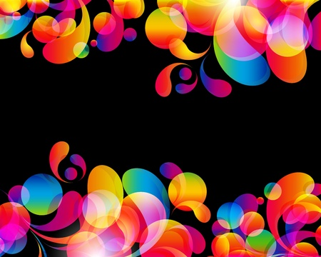 Card background  Abstract bright color drops and clean place for your text
