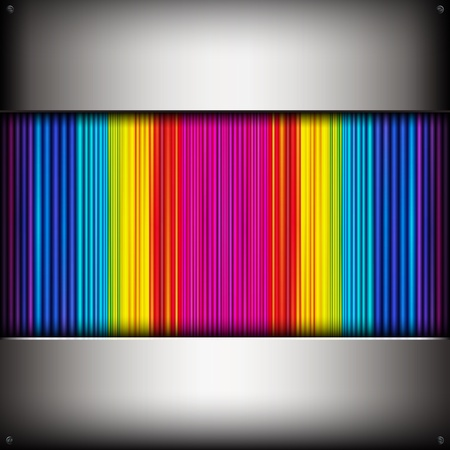 Vector abstract background with colorful metallic pipes. Vector