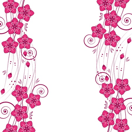 pink swirl: Graceful floral background, vector.