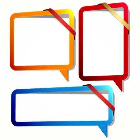 Speech bubble in the form of an empty frame for your text. Stock Vector - 13121110