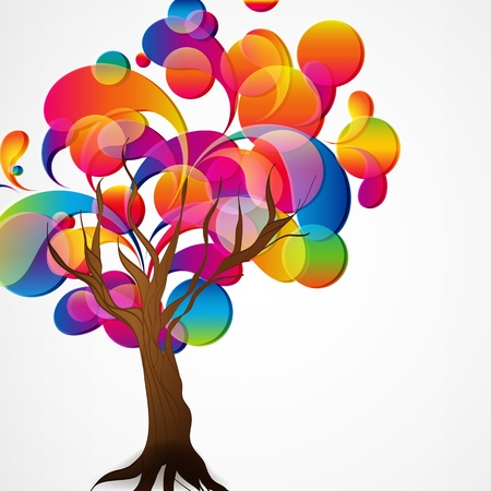 vector of abstract tree background.  Vector