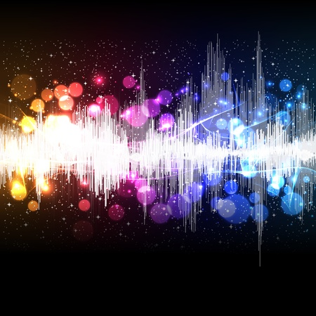 vibration: waveform music vector background Illustration