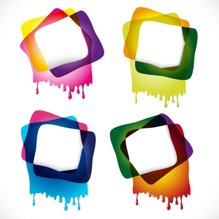 Multicolored glossy speech bubbles with drops Stock Vector - 13121118