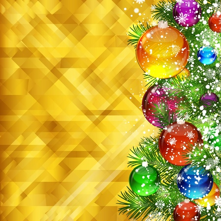 Christmas golden background and place for your text. Vector