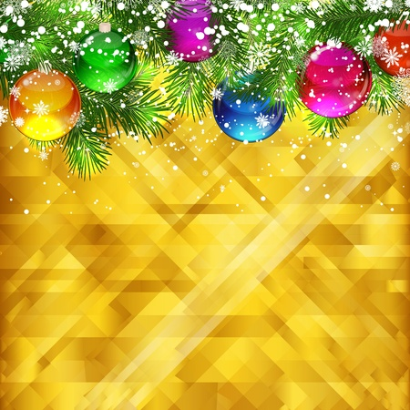 Christmas golden background and place for your text , vector, EPS 10  Vector