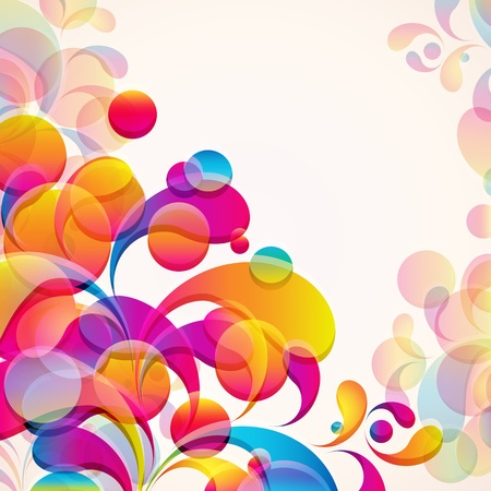 Abstract background with bright elements. Vector