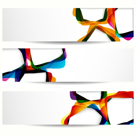 Abstract banner with forms of empty frames for your web design. Stock Vector - 13250256