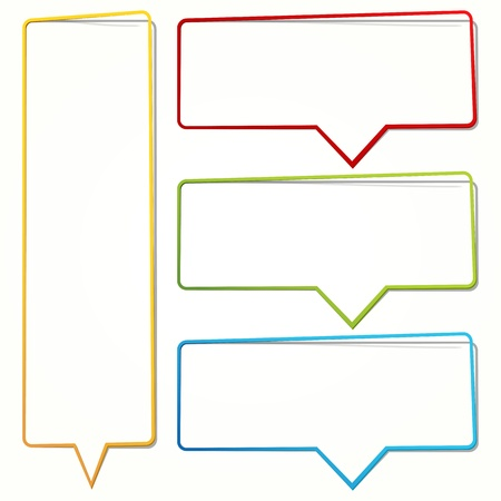 Speech bubble in the form of an thin frame for your text. Vector