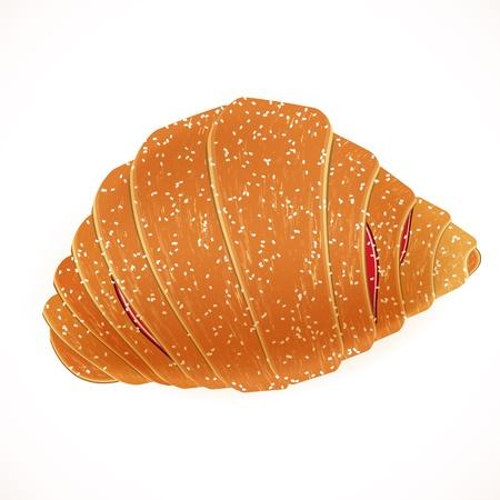 continental: Tasty yummy croissant.  vector illustration.