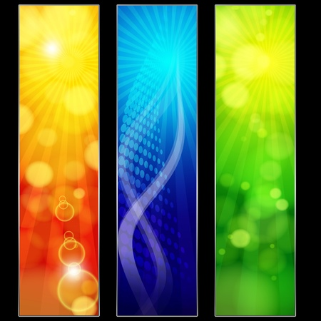 Abstract trendy colorful banners for your design header. Vector