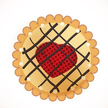 sugar cookies: cookie. vector illustration.