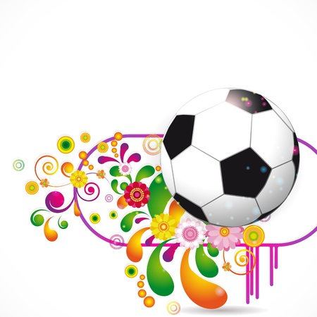 Soccer Ball vector background Stock Vector - 13305745