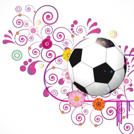 Soccer Ball vector background Stock Vector - 13354844