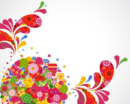 Floral and ornamental background card. Vector