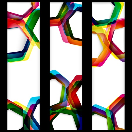 Abstract banner with forms of empty frames for your web design. Stock Vector - 13450462