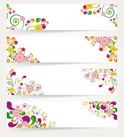 Floral design banners. Vector