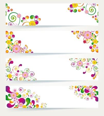 fairy garden: Floral design banners.