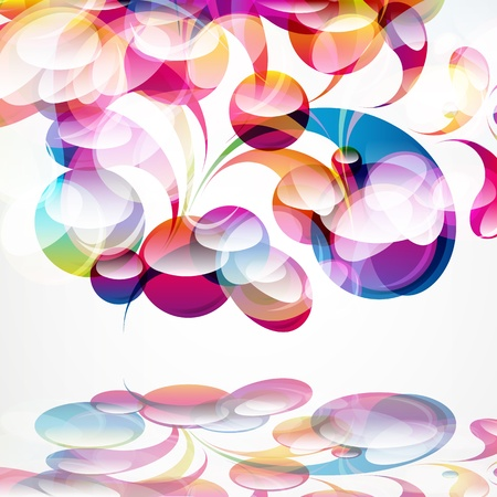 Abstract colorful arc-drop background. Vector.  Stock Vector - 13554996