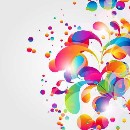 Abstract colorful arc-drop background. Vector.  Vector