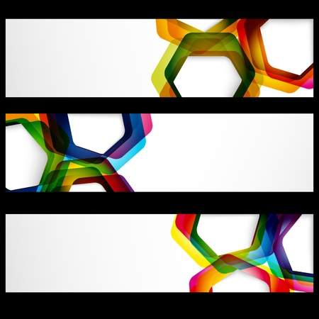 Abstract banner with forms of empty frames for your web design. Stock Vector - 13826614
