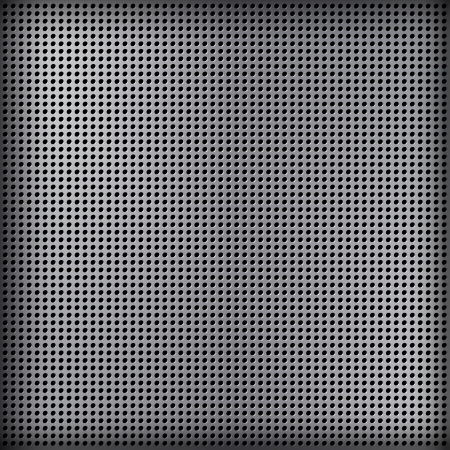 Metal background with huge space for information.  Vector