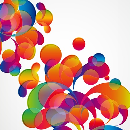 Abstract colorful arc-drop background. Vector